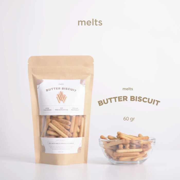 Foto Produk Melts Butter Biscuit BISKUIT STIK cocok untuk selai coklat Melts dari Melts Chocolate