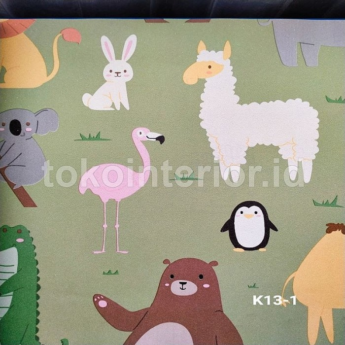 Jual Wallpaper Dinding Lucu Binatang Rabbit Panda Kambing Ks Jakarta Utara Lion Wallpaper Tokopedia