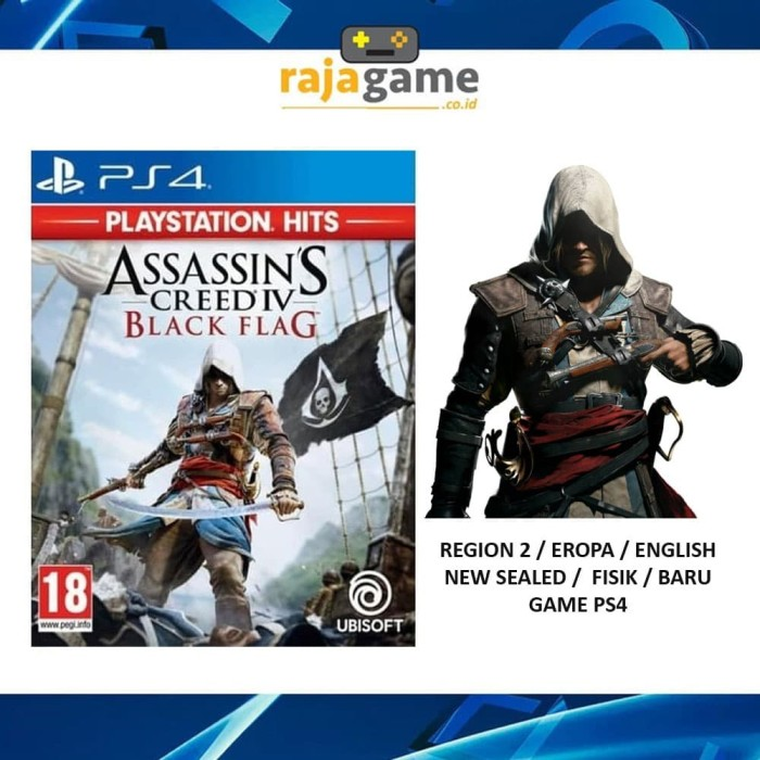 Jual Assassins Creed Iv Black Flag Game Ps4 R2 Jakarta Pusat