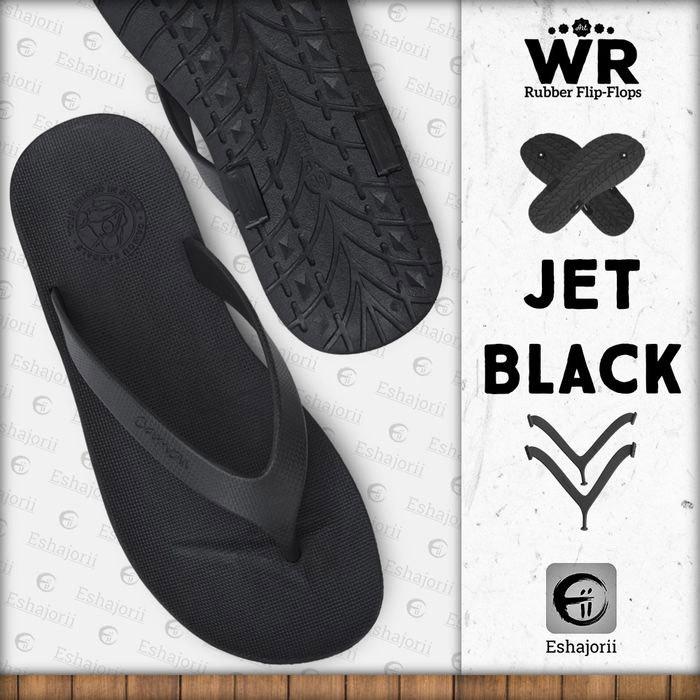 Foto Produk Limited Edition Sandal Jepit Pria Flip Flop CAMOU - WR Jet Black - Jet Black, 39 dari Eshajorii