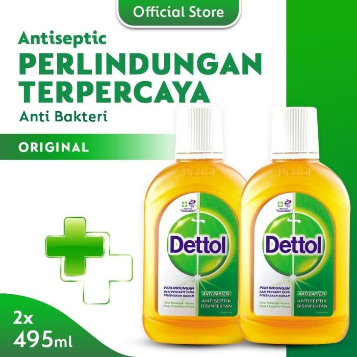 Foto Produk Dettol Antiseptic Cair - Botol 500 ml x 2 pcs dari Dettol Official Store
