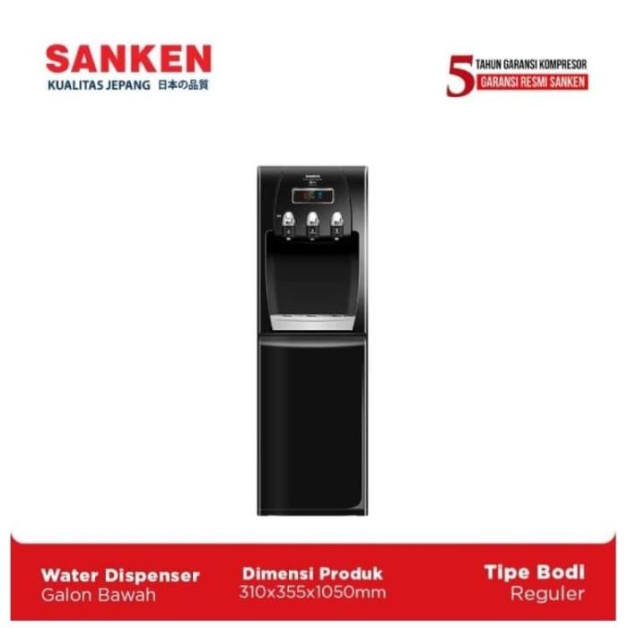 Foto Produk Sanken Dispenser Galon Bawah HWD-C523IC Hitam dari Sanken Official Store