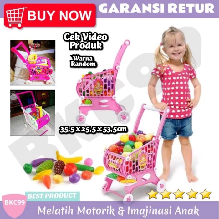 Jual E11 Mainan Anak Perempuan Keranjang Troli Masak Masakan Belanja Anak Kota Tangerang Bkc99 Tokopedia