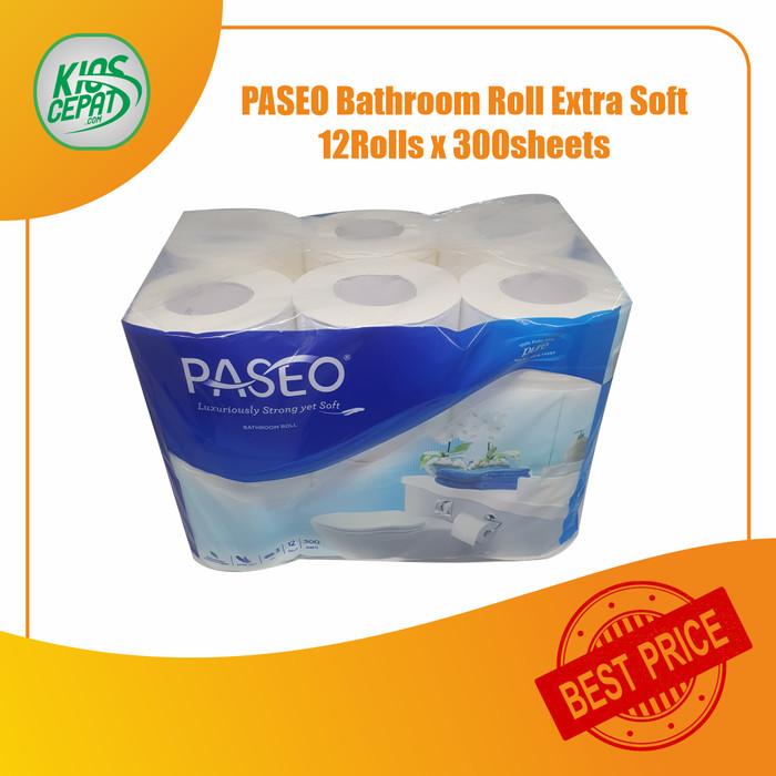 Foto Produk Tissue PASEO Bathroom Roll EXTRA SOFT 12Roll (300sheets - 3ply) dari KiosCepat