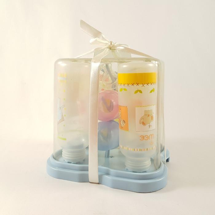 Foto Produk WEE Botol Susu Bayi / Feeding Bottle Set 4 pcs in 1 Dry Rack - 003 - Biru Muda dari Mastela Official