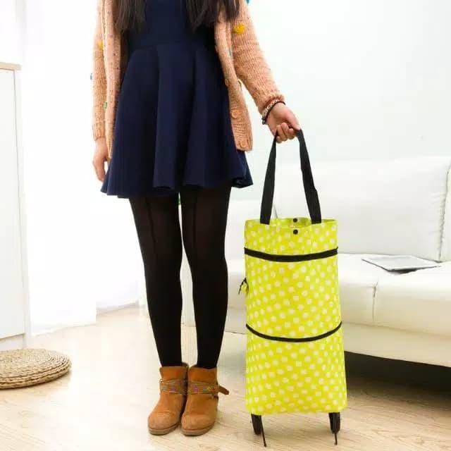 Foto Produk Tas Belanja Trolley Lipat Roda Serbaguna Troly Troli Shopping bag dari Bintang#1 Onshop