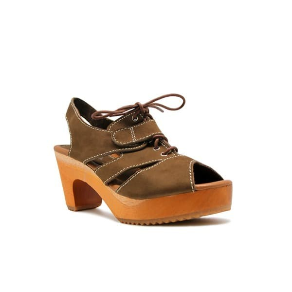 Foto Produk CLOGS Olivia (Insole) - Brown 7cm dari Natana Shoes