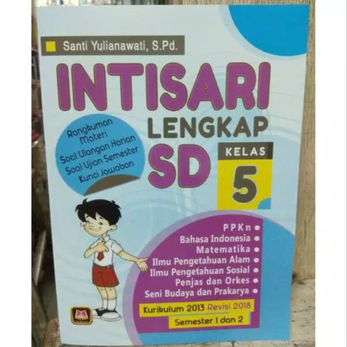 Jual Intisari Lengkap Sd Kelas 5 Rangkuman Materi Soal Ulangan Harian Jakarta Utara Toko Joyuan Tokopedia