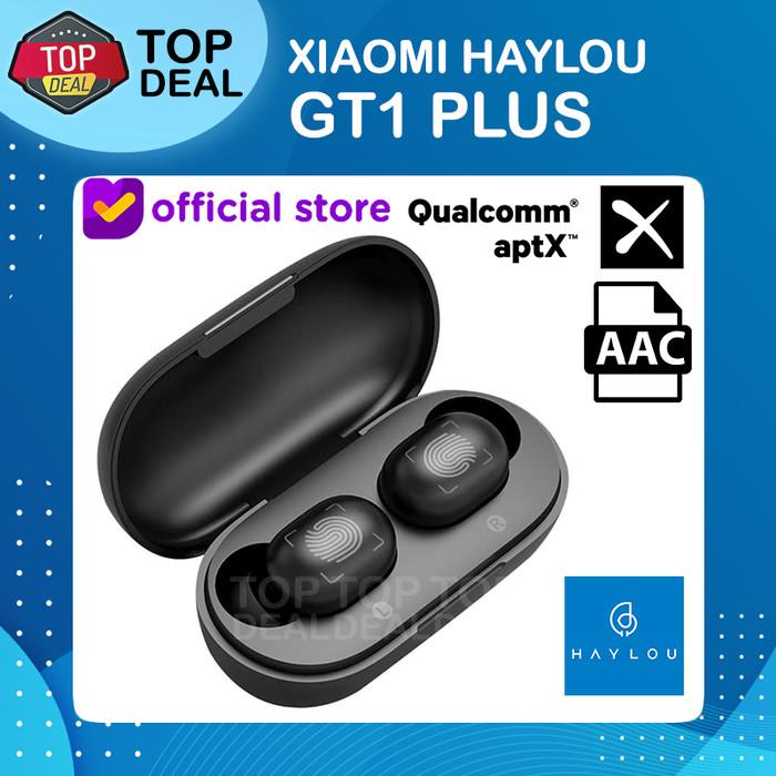 Foto Produk Xiaomi Haylou GT1 Plus TWS Wireless Earphone Bluetooth 5.0 - Hitam dari Top Deal
