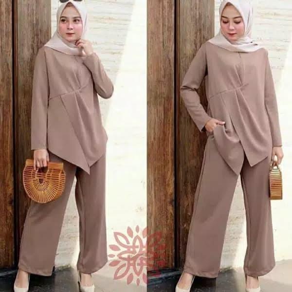 Jual Baju Setelan Wanita Dewasa Fashion Muslim Terbaru 2020 Ed Set Gwenori Merah Muda Jakarta Pusat Peyie21 Tokopedia