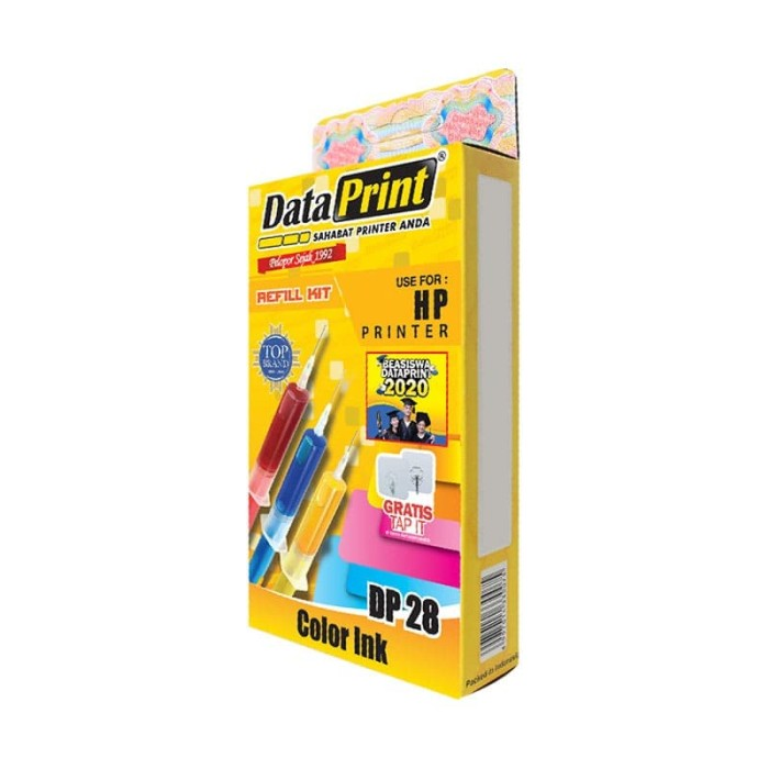 Foto Produk Tinta Refill Data Print DP28 HP colour universal dari CassCom