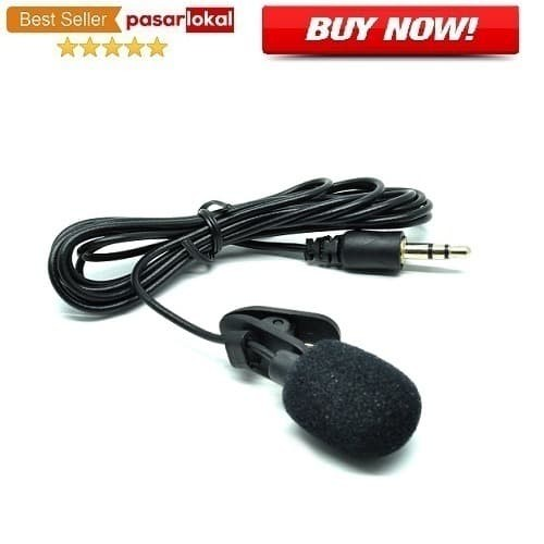 Foto Produk Microphone 3.5mm Microphone with Clip for Smartphone / Laptop / Tablet dari pasarlokal