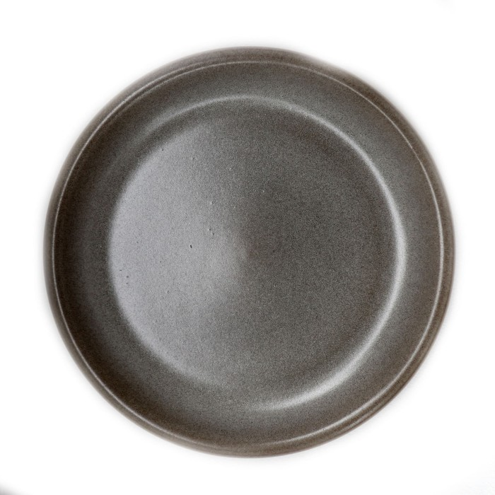 Foto Produk Artisan Ceramic | Double Glaze Black Dinner Plate | Piring Keramik dari Artisan Ceramic