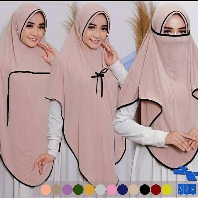 Jual Jilbab Hijab Masker Bergo Syari Khimar Ayana Niqob 3 In 1 Jakarta Pusat Habibi Hijab Tokopedia