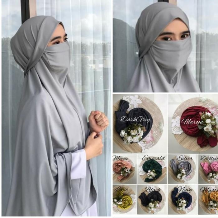 Jual Kerudung Masker Super Jumbo Hijab Khimar Jilbab Niqob Cadar Masker Kab Bandung Firstpick Tokopedia