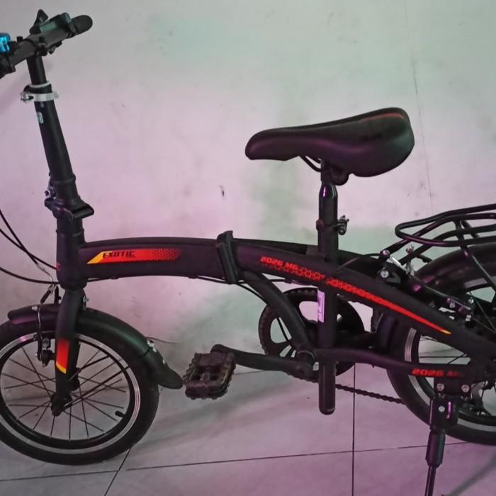 Jual Sepeda Lipat Exotic 2026mg Ring 16 Non Cakram Second 8 Hari Merah Kab Sukoharjo Zickzacksupliersukoharjo Tokopedia