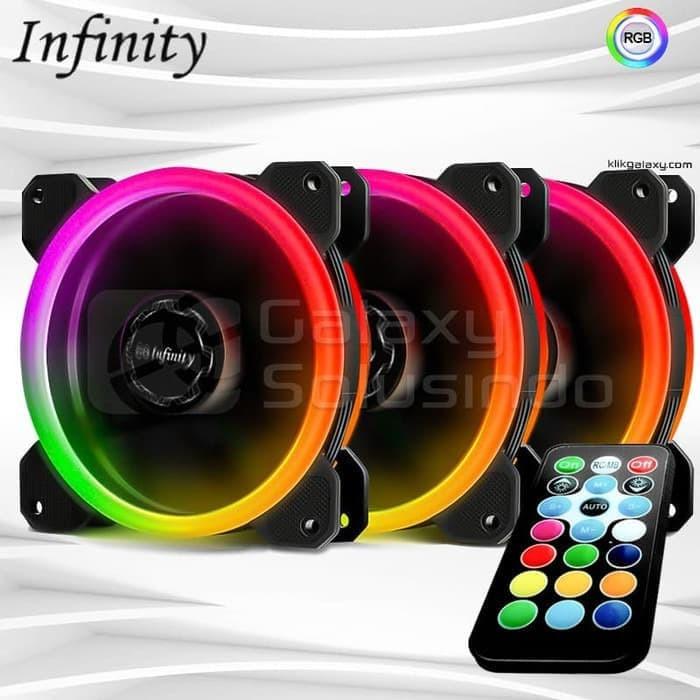 Foto Produk Fan Casing Infinity RGB OUTER RING 3 Pack (REMOTE+CONTROLER) dari toko expert komputer