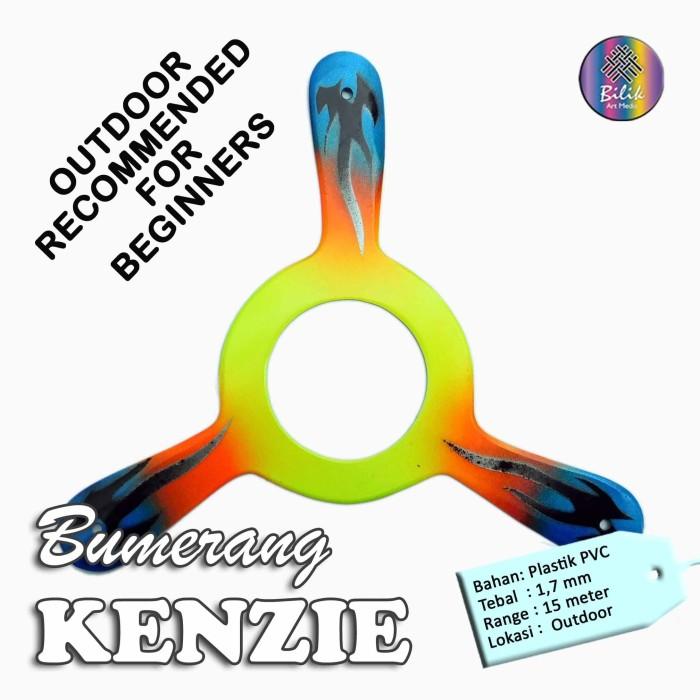 Foto Produk Bumerang Boomerang KENZIE Outdoor Mainan Edukatif Tradisional dari Bilik Art Media