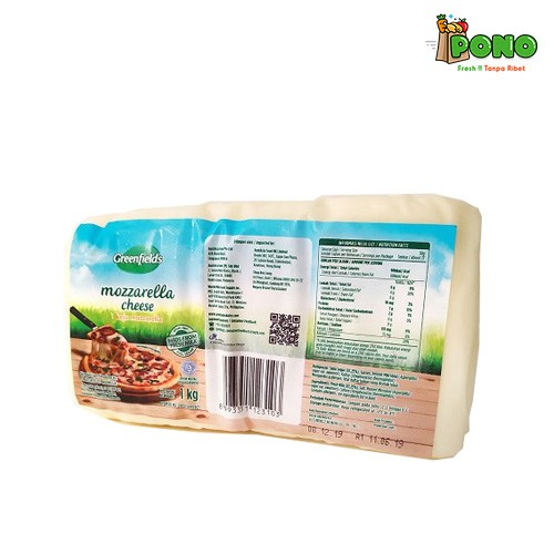 Foto Produk Greenfields Cheese Mozzarella Block 1kg dari Pono Area Solo