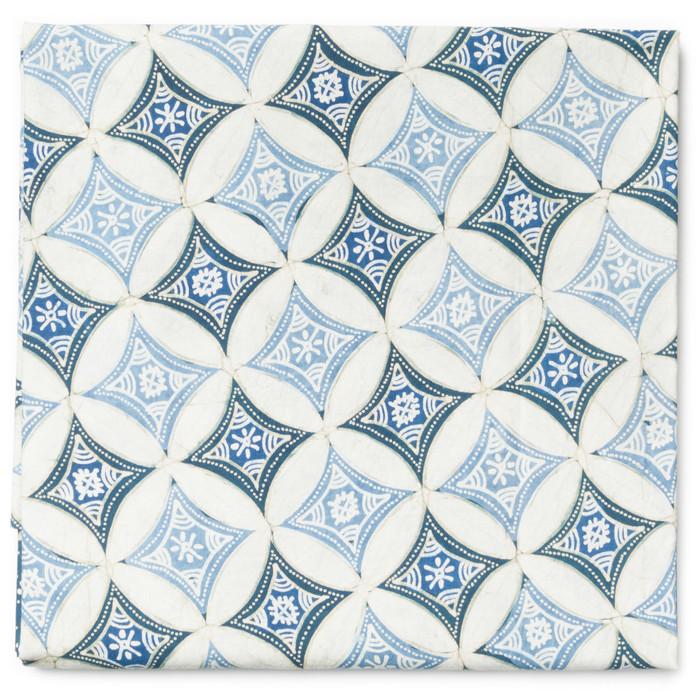 Foto Produk Kain Batik Tulis Warna Alam Motif Kawung Isen Granitan - Biru 1 dari Kainusa