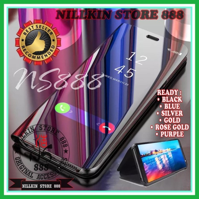 Foto Produk SAMSUNG GALAXY A10S A107 CLEAR VIEW STANDING CASING FLIP COVER CASE dari Nillkin Store 888