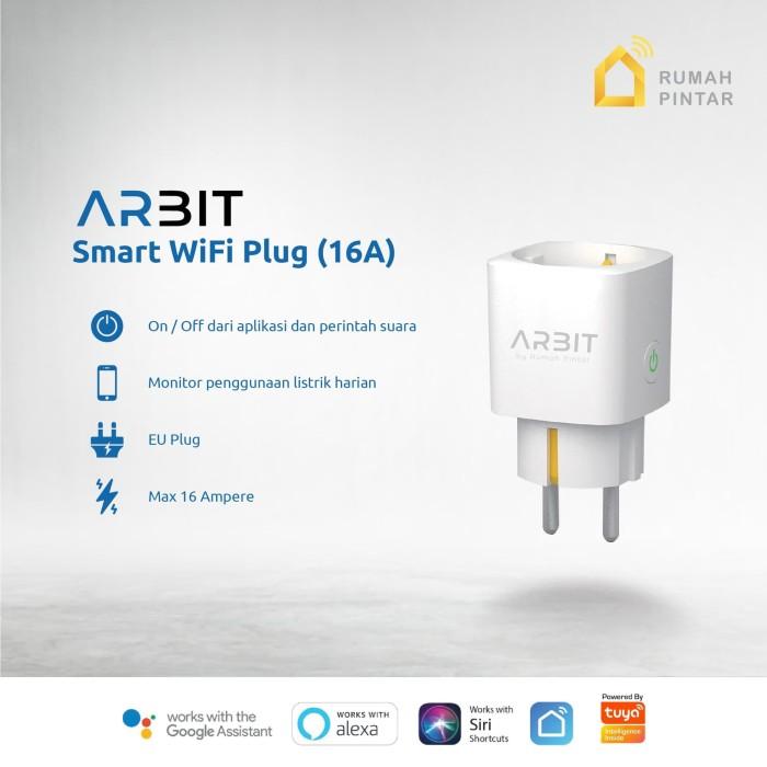 Foto Produk ARBIT Wifi Smart Plug Socket 16A with Power Meter Works Alexa Google dari RumahPintar.id