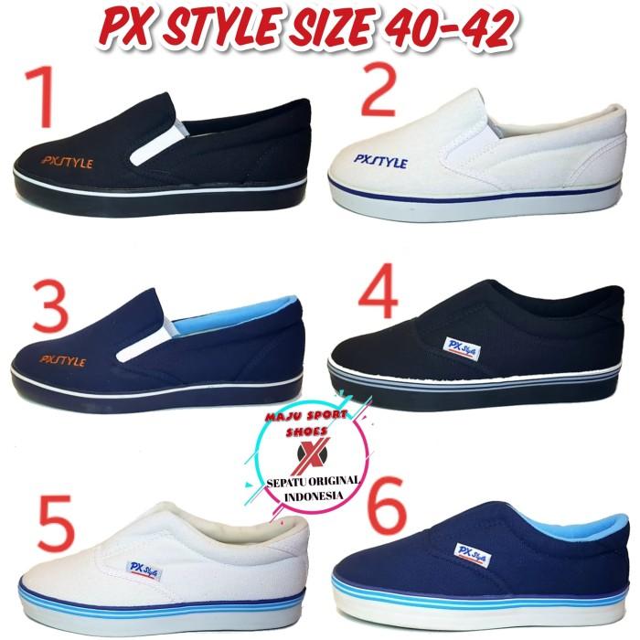 Foto Produk SEPATU SLIP ON PX STYLE KHUSUS UKURAN 41 42 dari maju sport shoes