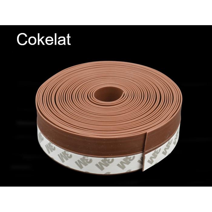 Foto Produk Penutup Celah Bawah Pintu Door Seal Anti Debu/ Serangga/ Udara AC 3M - Cokelat, 25mm dari Licio Store