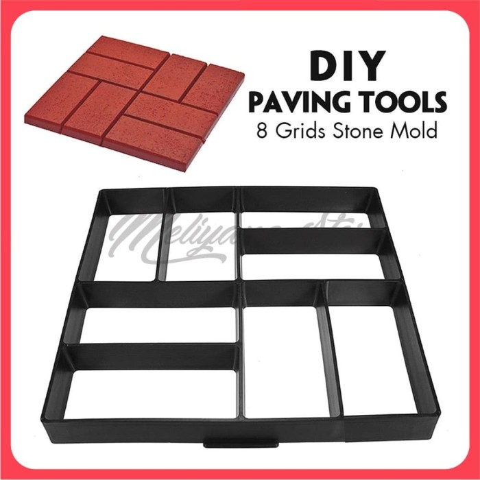Foto Produk Cetakan Paving Block DIY Paving Blok Cetakan Jalan - KOTAK-KOTAK dari Meliyana Store