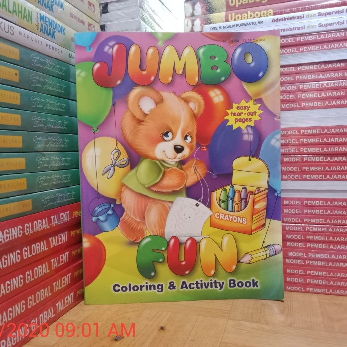 Jual Buku Original Jumbo Fun Coloring Activity Book Kota Bekasi Toko Buku Ericson Tokopedia