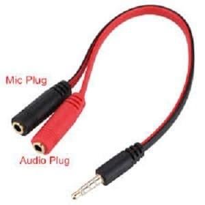 Foto Produk Kabel Jack 3,5mm To Headset + Mic / Kabel Stereo Male To 2 Female Mic dari PojokITcom Pusat IT Comp