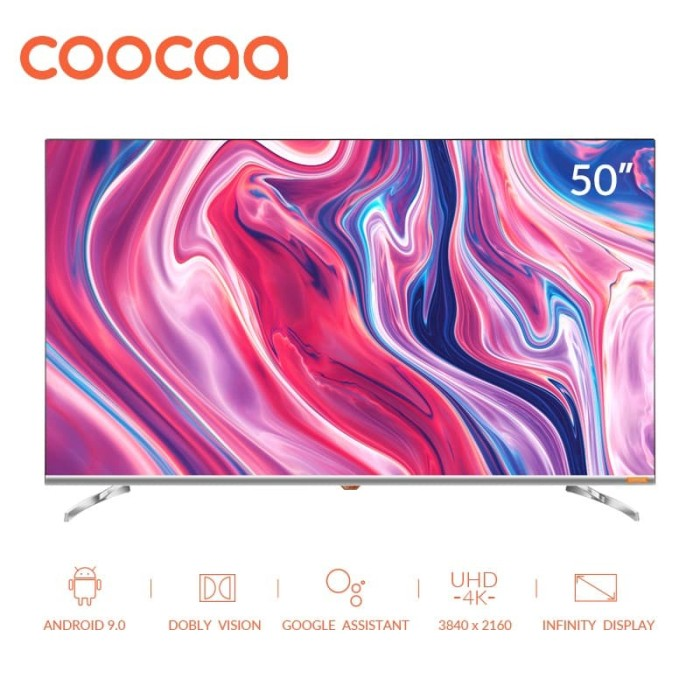 Foto Produk COOCAA 50 inch 4K Android 9.0 Smart LED TV- Dolby Vision (Model 50S6G) dari Coocaa Official Store