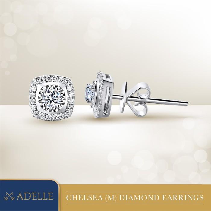Foto Produk Adelle Jewellery Diamond Earrings ADE1804010CSB - Anting Emas Berlian dari Adelle Jewellery