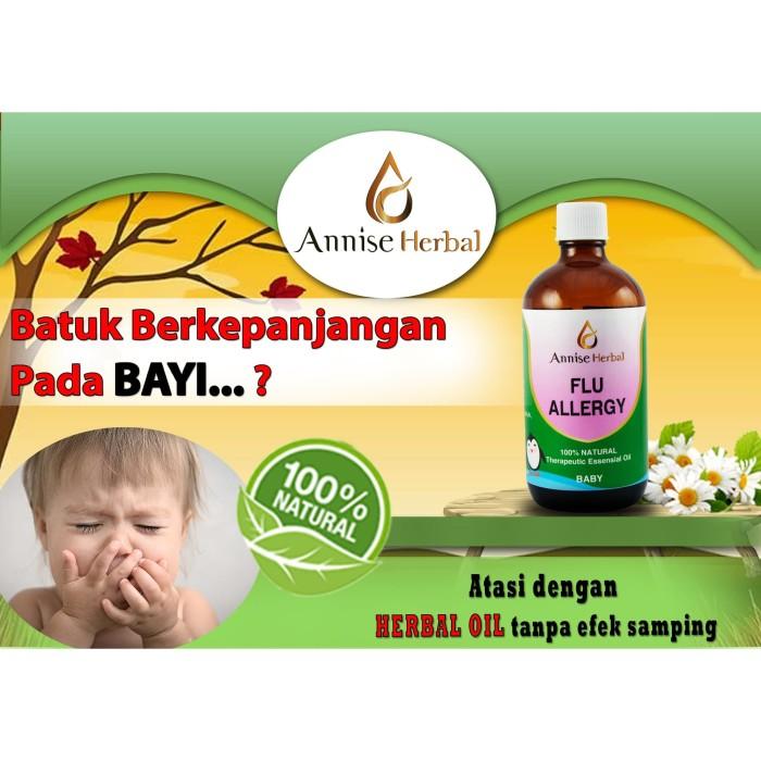 Foto Produk Obat Meredakan Batuk & Pilek, Flu Allergi Oil for Bayi 120ml dari anniseherbal