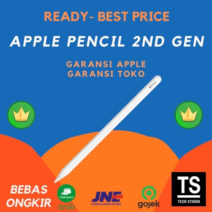 Foto Produk Apple Pencil 2nd Generation iPad Pro 2020 2018 Apple Pencil 2 Resmi - GRS APPLE INTER dari Tech Studio Indonesia