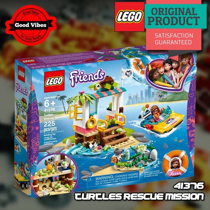 Jual LEGO Original FRIENDS 41376 Turtles Rescue Mission ...