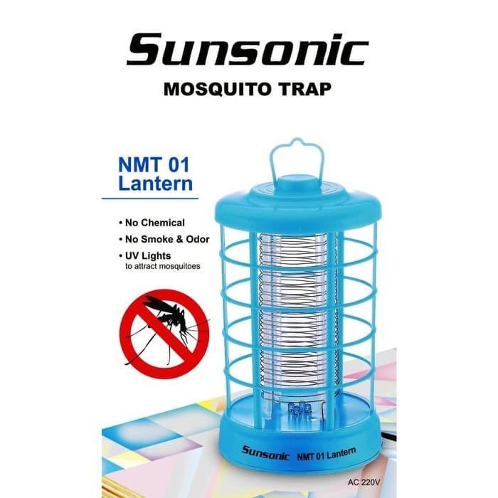 Foto Produk Perangkap Nyamuk Sunsonic NMT 01 Lantern Bebas Kimia Asap Bau Lampu UV dari grosirltc