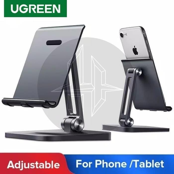 Foto Produk UGREEN 40995 Desktop Metal Phone Holder Stand Dock Ipad Tab Tablet HP dari HimTech