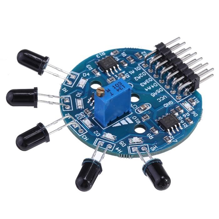 Foto Produk 3pcs 5 Channel Flame Sensor Module Analog Dgital Dual Output Fire dari andiah store