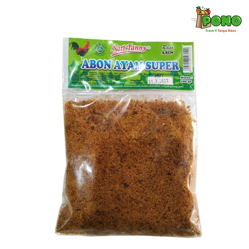 Foto Produk Abon Ayam Asin Sari Tanny 100gr dari Pono Area Solo