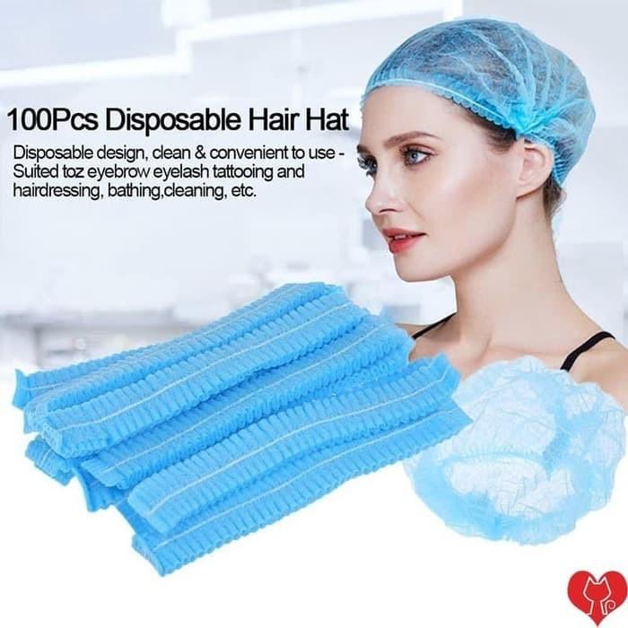Foto Produk Nurse cap / Hair cap / Hair Net/ Penutup Kepala Gojek Koki Suster 1pcs dari graystore178