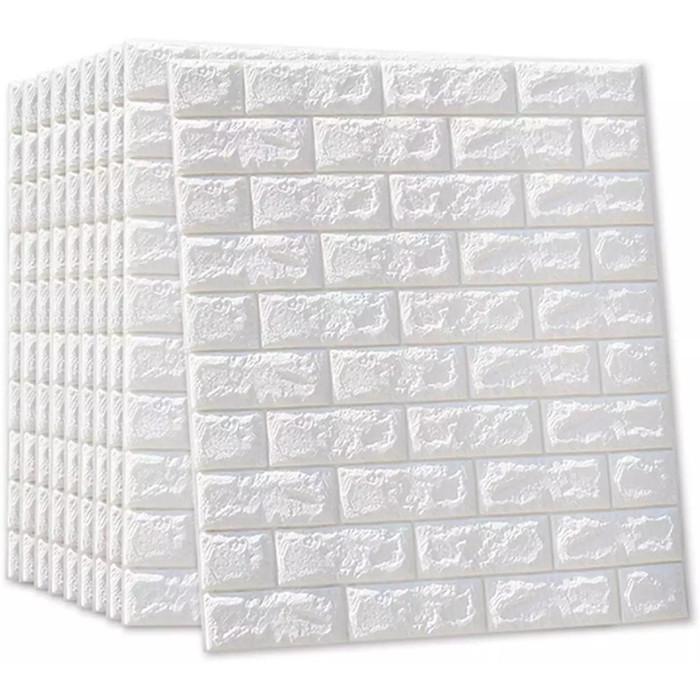 Jual Wallpaper Sticker Dinding 3D Brick Foam Bata Timbul