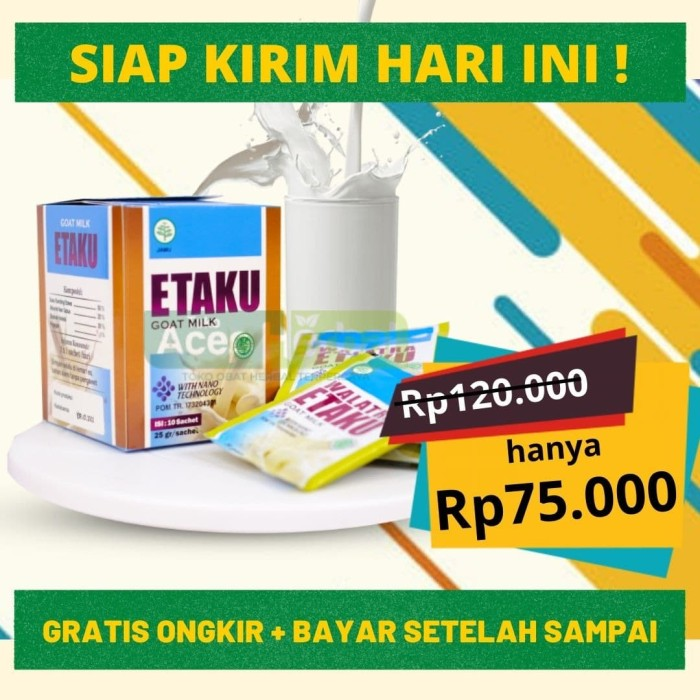 Foto Produk Obat Perut Sembelit | SUSU KAMBING ETAWA - ETAKU GOAT MILK GRADE A dari DHI Jakarta Barat