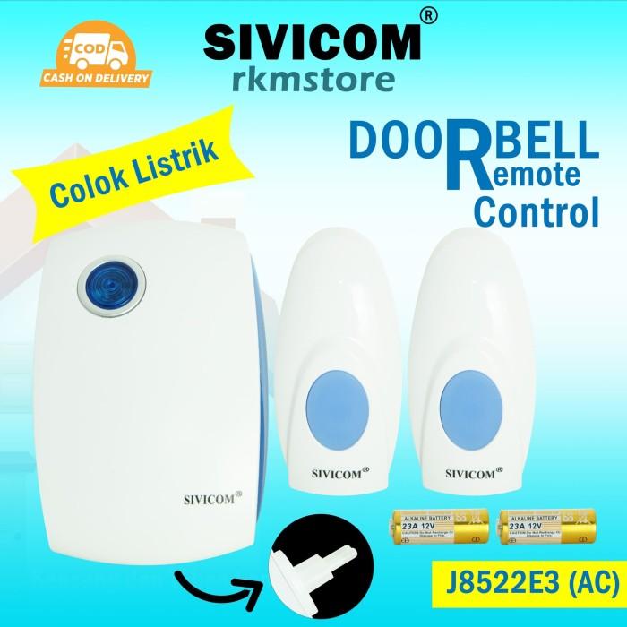 Foto Produk SIVICOM J8522E3AC Door bell wirelles 2 remote suara kencang listrik dari SIVICOMINDONESIA