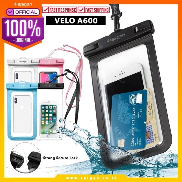 "Foto Produk Spigen Velo A600 Universal Waterproof Phone Case 6"" - Clear dari Spigen Official"