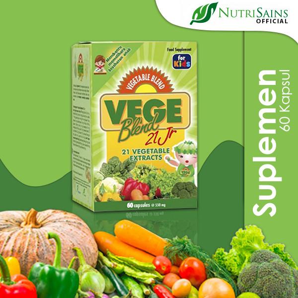 Foto Produk VegeBlend 21 Jr 60 Kapsul dari Nutrisains Official