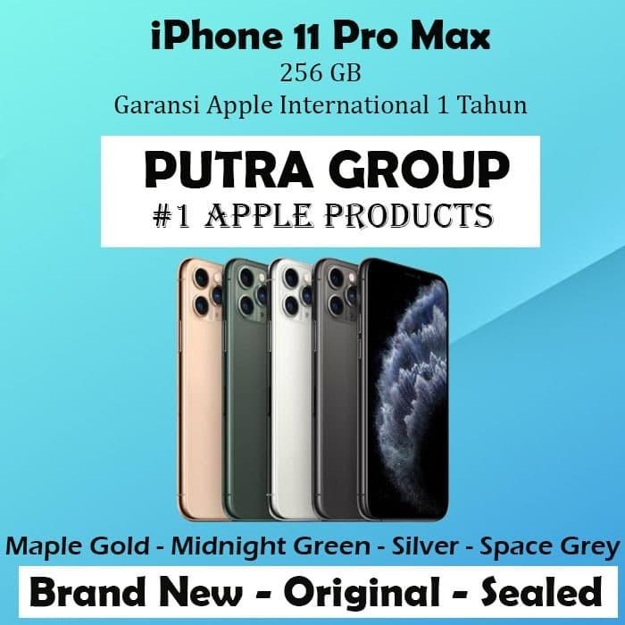 Foto Produk (DUAL SIM) iPhone 256GB / 256 11 Pro Max Gold Green Silver Grey / Gray - Green dari Putra Group