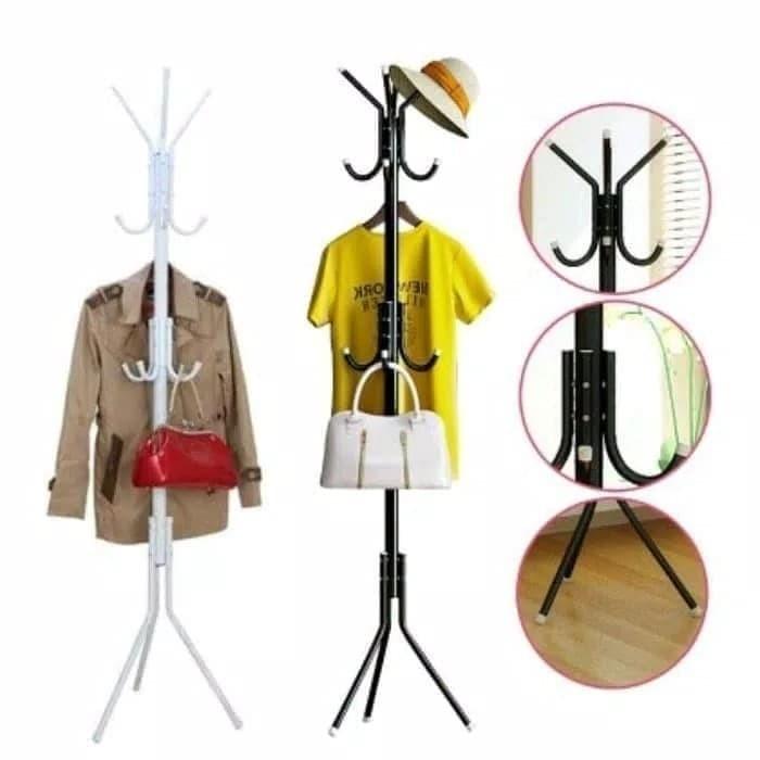 Foto Produk Stand Hanger / Gantungan Tiang Berdiri / Hanger Gantungan Baju Tas - Hitam dari dfanccie house