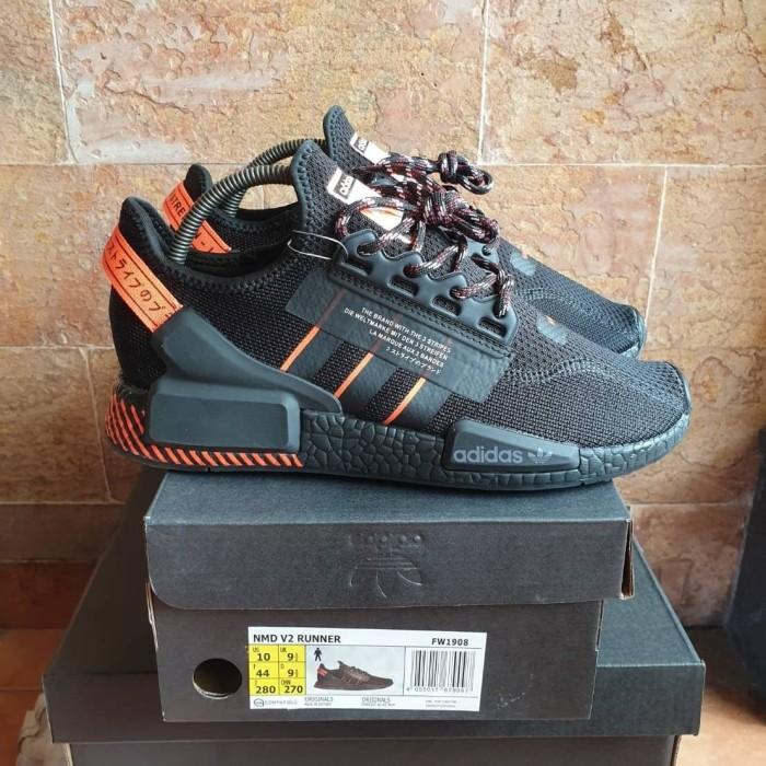 Jual Sepatu Adidas Nmd R1 V2 Black Solar Red Premium Quality