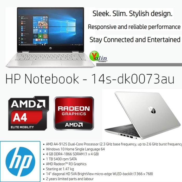 Jual Laptop Hp 14s Dk0073au A4 9125 4gb 1tb Radeon R3 14 Win10 Jakarta Pusat Yolin Comp Tokopedia